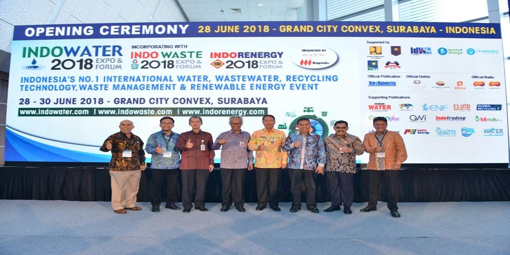 Surabaya Gelar Pameran Industri dan Teknologi Terpadu INDOWATER, INDOWASTE DAN INDORENERGY EXPO 2018