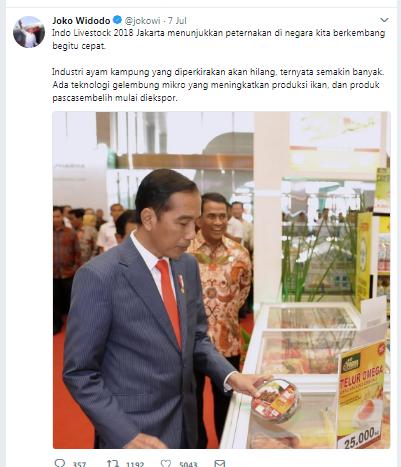 Presiden Joko Widodo Hadiri Pameran Perternakan INDO LIVESTOCK 2018 di JCC